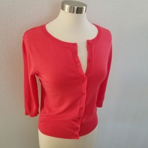 NWT Super Soft Berry Coral 3/4 Sleeve Cardigan